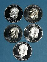 EISENHOWER DOLLAR CLAD PROOF DATE RUN 1973 S TO 1978 S