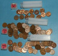 1941 P D S LINCOLN WHEAT CENT ROLLS EF BU   PARTIAL ROLLS FROM BIG COLLECTION