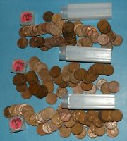 1940 P D S LINCOLN WHEAT CENT ROLLS EF BU   PARTIAL ROLLS FROM BIG COLLECTION