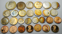 LARGE LOT OF FIRE TONED PROOF COINS  NON SILVER    28 COINS