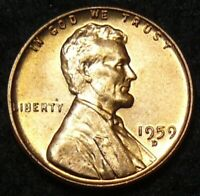 1959 D LINCOLN MEMORIAL CENT   BU   RE PUNCHED MINTMARK / RPM 008