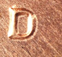 1969 D LINCOLN MEMORIAL CENT   BU    RE PUNCHED MINT MARK     RPM 010