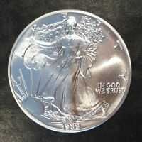 1989 UNCIRCULATED AMERICAN SILVER EAGLE US MINT ISSUE 1OZ PURE SILVER G057