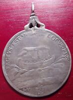 PAPAL STATE NOAHS ARK INNOCENT XII 1691 1700 SILVER  PIASTRA PENDENT