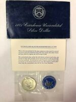 1971-S EISENHOWER 40 SILVER DOLLAR IN THE BLUE ENVELOPE UNCIRCULATED