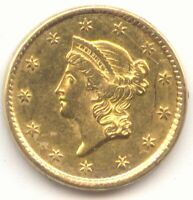 1850 GOLD DOLLAR LUSTROUS AU UNC DETAILS TYPE 1 TRUE AUCTION