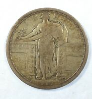 1917 TY-1 STANDING LIBERTY QUARTER FINE SILVER 25-CENTS