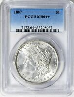 1887  MORGAN SILVER DOLLAR - PCGS MINT STATE 64  - TOP OF THE LINE, CREAMY WHITE