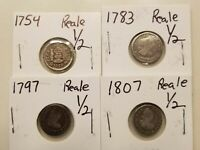 LOT OF 4  1/2 REALES