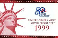 1999 S UNITED STATES MINT SILVER PROOF SET
