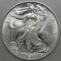 1 OZ SILVER ROUND WALKING LIBERTY MONEY METALS EXCHANGE .999 SILVER 11447
