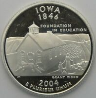 2004 S 25C IOWA SILVER STATE QUARTER PROOF UNC 90  SILVER 11867
