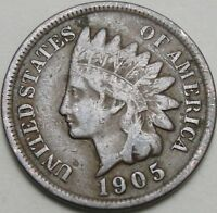 1905 1C INDIAN CENT IHC INDIAN HEAD PENNY COPPER 13346
