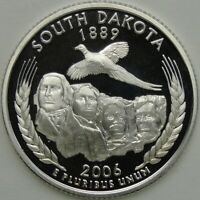 2006 S 25C SOUTH DAKOTA SILVER STATE QUARTER PROOF UNC 90  SILVER 13682
