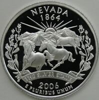 2006 S 25C NEVADA SILVER STATE QUARTER PROOF UNC 90  SILVER 13697