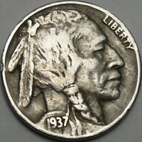 1937 5C BUFFALO NICKEL INDIAN HEAD NICKEL FIVE CENTS 14007