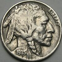 1935 5C BUFFALO NICKEL INDIAN HEAD NICKEL FIVE CENTS 13970