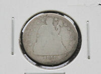 1856-P LIBERTY SEATED 90 SILVER DIME U.S. COIN D2665