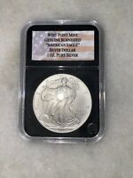 2007 W BURNISHED AMERICAN SILVER EAGLE 1 OZ $1 COIN