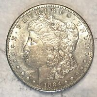 1884-S MORGAN SILVER DOLLAR  NEARLY UNCIRCULATED - HIGH QUALITY SCANS B562