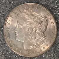 1889-S MORGAN SILVER DOLLAR - NEARLY UNCIRCULATED - HIGH QUALITY SCANS H575