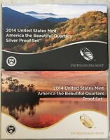 2014 AMERICA THE BEAUTIFUL QUARTERS PROOF SETS  SILVER & CLA