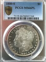 1880 S MORGAN DOLLAR MINT STATE 66 PL ONLY 218 BETTER BOOK IS $525