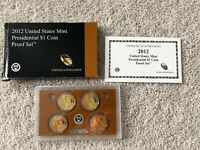 2012 US MINT PRESIDENTIAL DOLLAR $1 PROOF 4 COIN SET