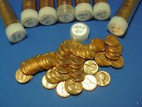 1964 D LINCOLN MEMORIAL CENTS   LOT OF 8 BU TUBED ROLLS /   400 COINS