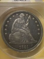 1841 SEATED LIBERTY SILVER DOLLAR ANACS EXTRA FINE  40 CLEANED. ONE OF THE EARLIEST SL $