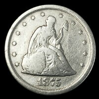 1875 S US SEATED LIBERTY SILVER 20C TWENTY CENT PIECE COLLECTOR COIN 8SLTW7508