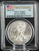 2012 W BURNISHED SILVER EAGLE PCGS MS 70 FIRST STRIKE
