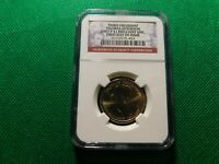 NGC FIRST DAY OF ISSUE THIRD PRESIDENT 2007 P $1 BRILLIANT UNC COIN   A709TXX