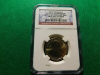 NGC 1ST DAY ISSUE FIRST 1ST PRES WASHINGTON 2007 D $1 BRIL UNC COIN  A710TXX