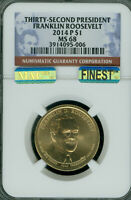 2014-P FRANKLIN ROOSEVELT PRES. DOLLAR NGC MINT STATE 68 PQ MAC FINEST MAC SPOTLESS .