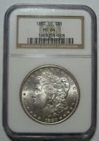 1880-CC PCGS MINT STATE 64 MORGAN DOLLAR, CERTIFIED, CARSON CITY, SHIPS FREE