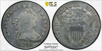 1798 HERALDIC EAGLE DRAPED BUST DOLLAR PCGS VF DETAILS CLEANED