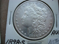 1898-S AU  MORGAN SILVER DOLLAR BREAKUP OF A HIGH GRADE SET-L21