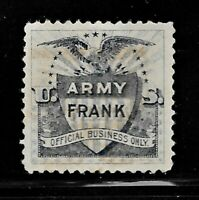 HICK GIRL BEAUTIFUL MH. U.S. TELEGRAPH STAMP  ARMY FRANK OFF