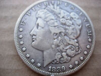 1889-CC VF  BETTER DATE MORGAN SILVER DOLLAR BREAKUP OF A HIGH GRADE SET - L22