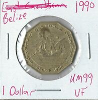 COIN BELIZE 1 DOLLAR 1990 KM99