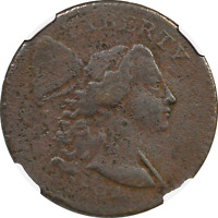 1794 LIBERTY CAP FLOWING HAIR LARGE CENT COIN 1C NGC FINE DETAILS.