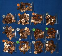 1956 D LINCOLN WHEAT CENT ROLLS   ABOUT 13 ROLLS FROM BIG COLLECTION
