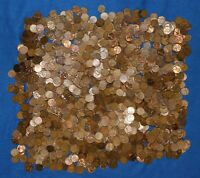 1955 S LINCOLN WHEAT CENT BAG LOT   ABOUT 1600 COINS FROM BIG COLLECTION