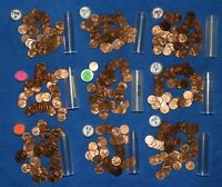 1955 P LINCOLN WHEAT CENT ROLLS   9 ROLLS FROM BIG COLLECTION