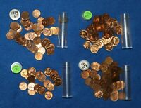 1954 D LINCOLN WHEAT CENT ROLLS   3 1/2 ROLLS FROM BIG COLLECTION  1 IS BU