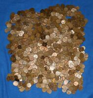 1953 S LINCOLN WHEAT CENT BAG LOT   ABOUT 1300 COINS FROM BIG COLLECTION