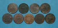 1864 1865 AND 1866 2 CENT PIECE LOT   9 COINS