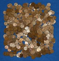 1948 D LINCOLN WHEAT CENT BAG LOT   500 COINS FROM BIG COLLECTION