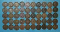 50 INDIAN HEAD PENNY CENT ROLL   1900 1908 MIXED DATES